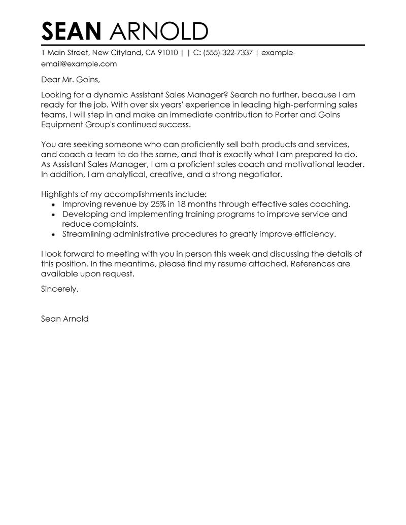 Cover Letter Template Retail Sales assistant Samples | Letter Cover ...