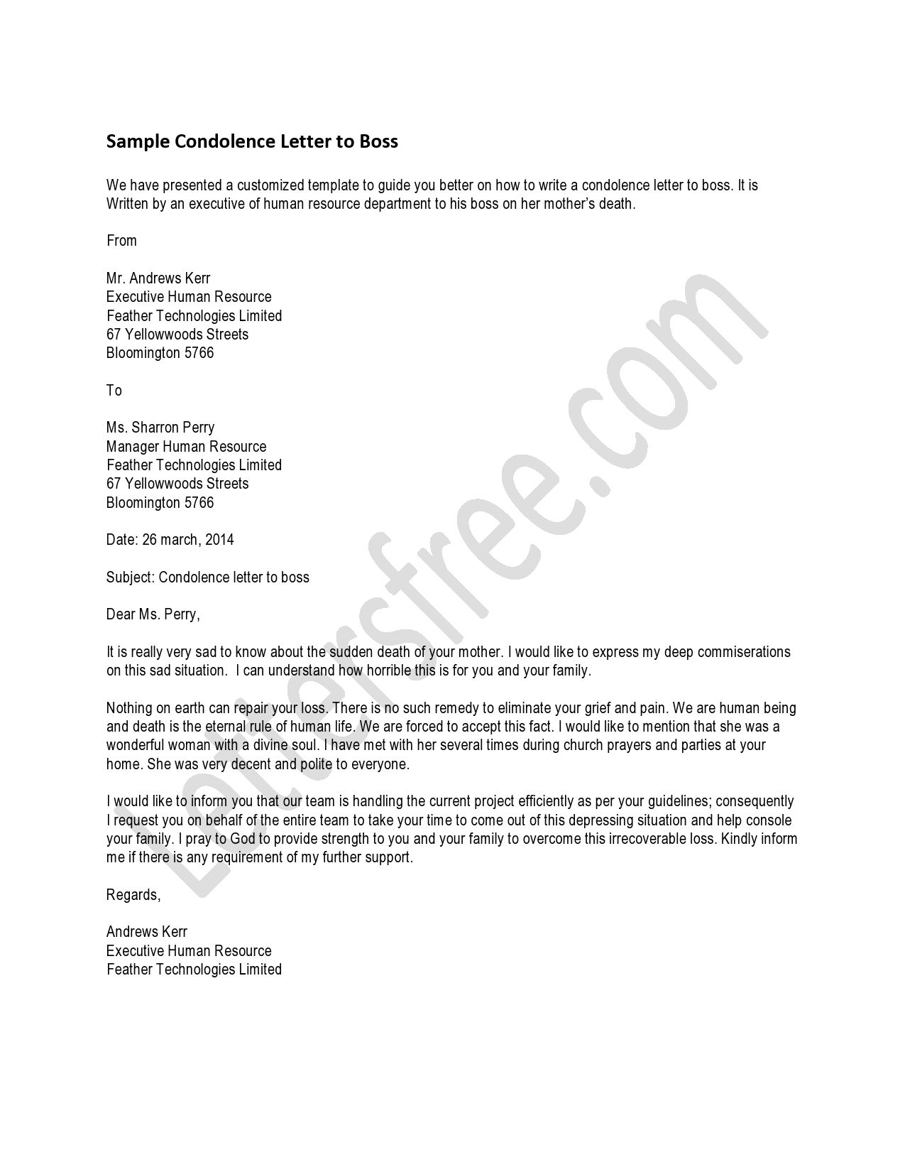 Grief Letter Template - You Can Read the Sample Letter for A Condolence Letter that You